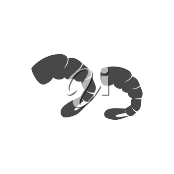 Shrimps patterns in colour monochrome variant. Seafood concept icons in flat style design. Vector illustration sea shrimp.