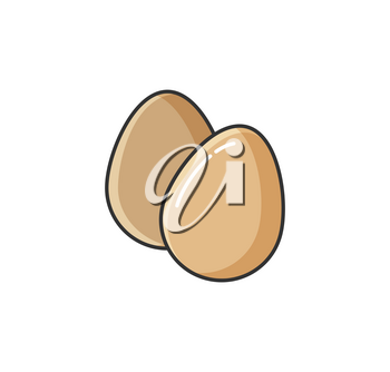 Allergy to eggs, natural products causing illness isolated icon vector. Food protein intolerance of human body, health issue and problems sensitivity