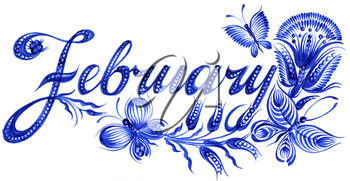 Royalty Free Clipart Image of  February