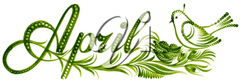 Royalty Free Clipart Image of April