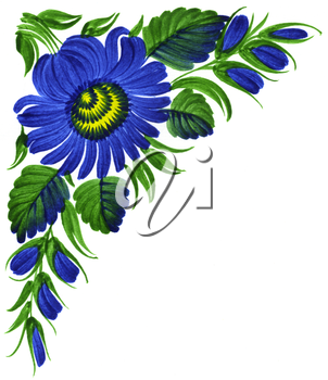 Royalty Free Clipart Image of a Decorative Floral Corner
