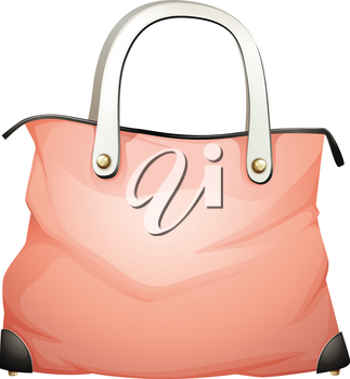 Illustration of a leather handbag on a white background