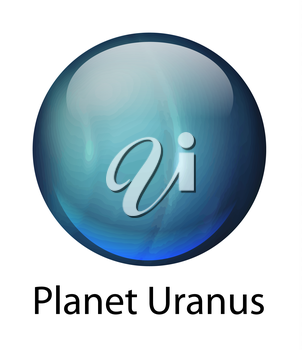 Icon illustration of the planet Uranus