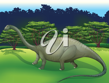Illustration showing the Diplodocus