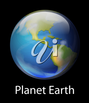 Illustration of the planet Earth