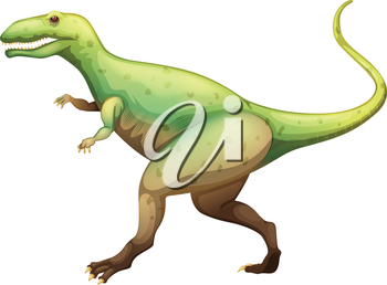 Illustration showing a Giganotosaurus
