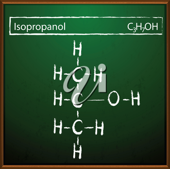 An image showing the isopropanol molecules