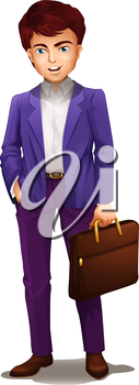 Illustration of an executive on a white background