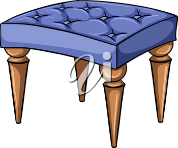 Chair furniture with four stands on a white background