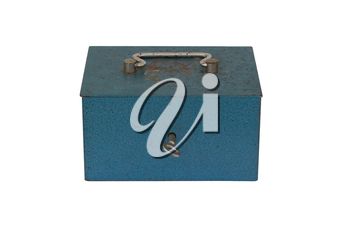 Blue moneybox isolated on a white background