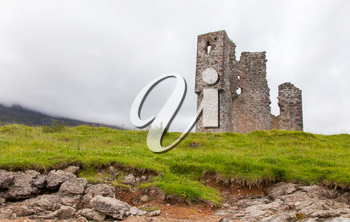 Ruins of an old castle in Scotland