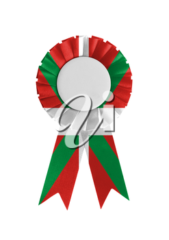 Award ribbon isolated on a white background, Basque Country