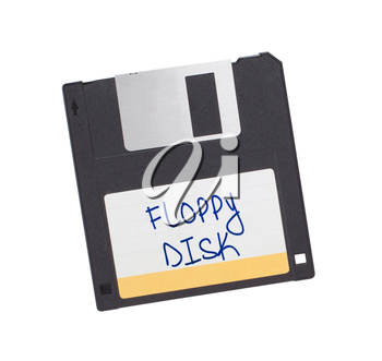 Floppy Disk - Tachnology from the past, isolated on white - Floppy disk