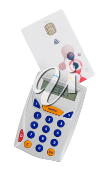 Banking at home, card reader for reading a bank card - Debit