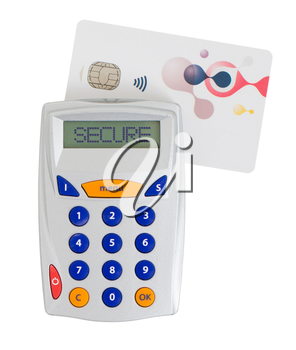Banking at home, card reader for reading a bank card, secure