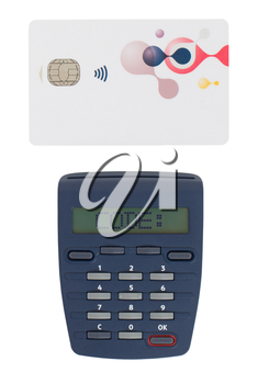 Banking at home, card reader for reading a bank card - Code