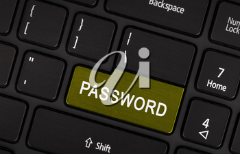 Text password button on a black laptop keyboard