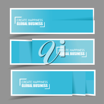 Paper design template for numbered paper banners,website layout. Vector EPS10