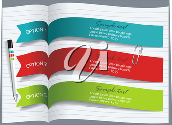 Ribbons and banners design