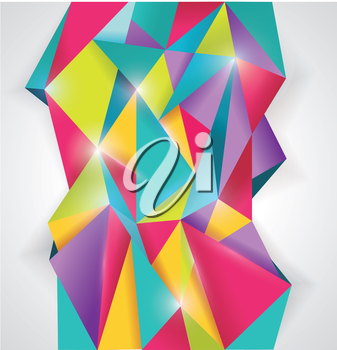 Abstract geometrical background, polygonal design
