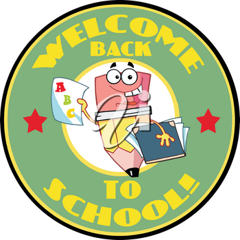 Clipart Image of A Welcome Back To School Pencil