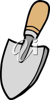 Clipart Image of A Gardening Spade