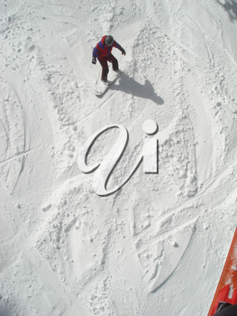 Stock Photo of a Snowboarder at Mt Ashland Oregon - Winter of 2008