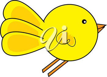 Clip Art Image of a Cute Cartoon Chick