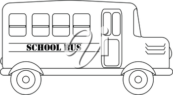 Clip Art Image of a Cartoon School Bus