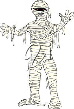 Halloween Clip Art Illustration of a Mummy