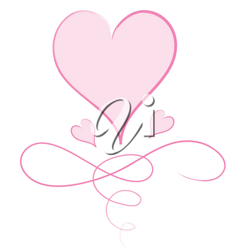 Clip Art Illustration of a Decorative Heart Design
