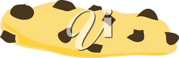 Clipart Illustration of a Chocolate Chip Cookie
