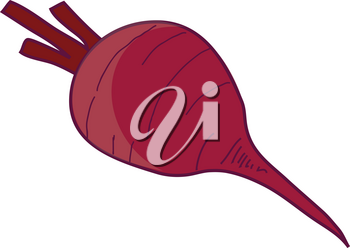 Clipart Illustration of a Beet Vegetable