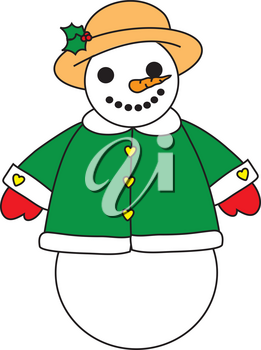 Royalty Free Clipart Illustration of a Snowwoman