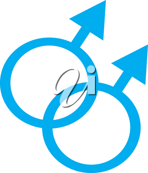 "Clip Art Illustration of a ""Male"" Two Symbols"