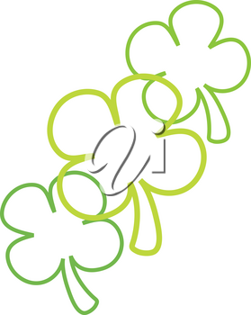 Clipart Illustration of a Four Leaf Clovers