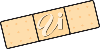 Clipart Illustration of a Bandaid