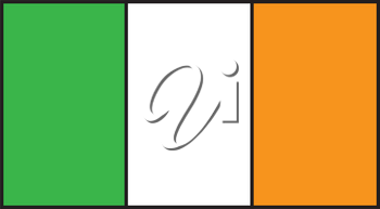 Clipart Illustration of Flag of Ireland