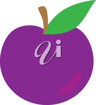 Clipart Illustration of a Plum
