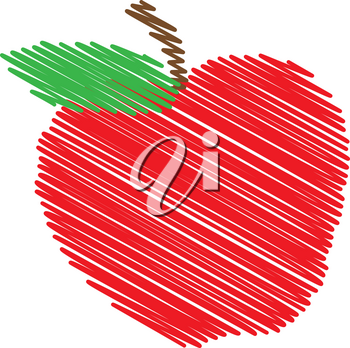 Clipart Illustration of an Apple