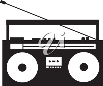 Clipart Illustration of a Stereo