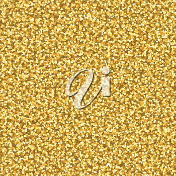 Abstract seamless pattern with glitter golden texture