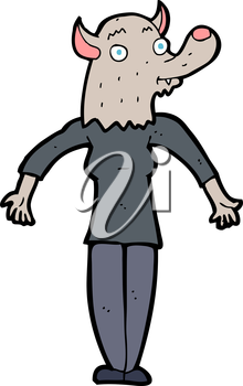 Royalty Free Clipart Image of a Werewolf Woman