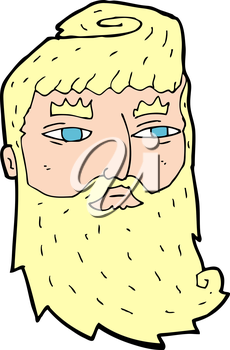 Royalty Free Clipart Image of a Man with a Beard