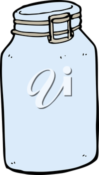 Royalty Free Clipart Image of a Glass Jar