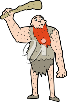 Royalty Free Clipart Image of a Neanderthal