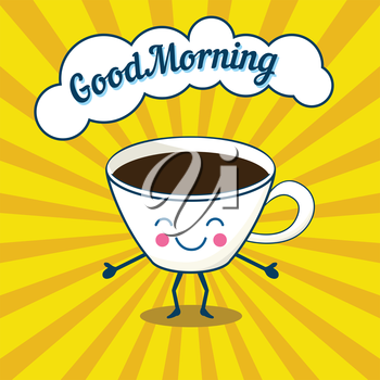 Royalty Free Clipart Image of Morning Coffee
