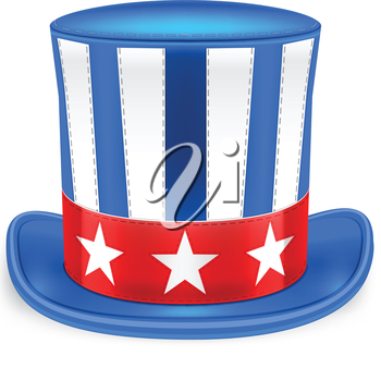 Royalty Free Clipart Image of a Fourth of July Hat