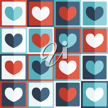 Royalty Free Clipart Image of a Heart Pattern Background