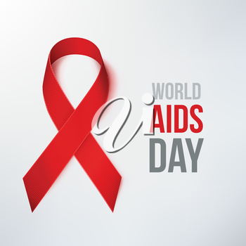 AIDS Awareness Ribbon. World AIDS Day. Red Ribbon.